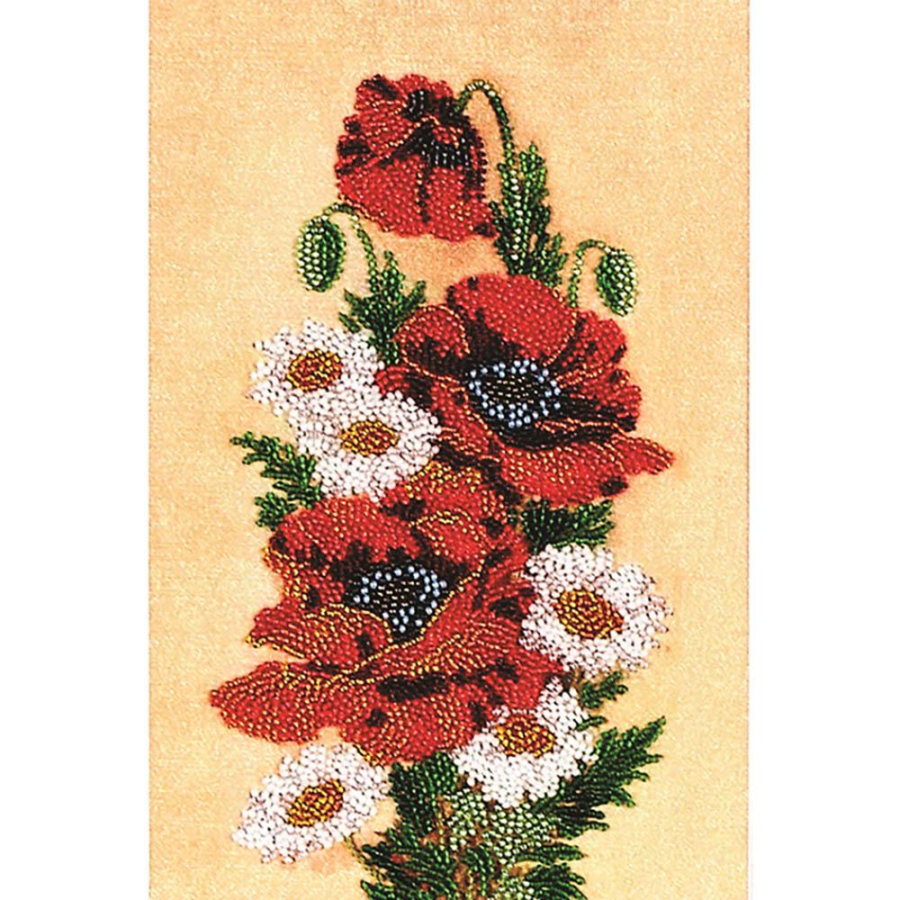ВН1034 Набор для вышивания Alisena 'Маки и ромашки', 25*16 см