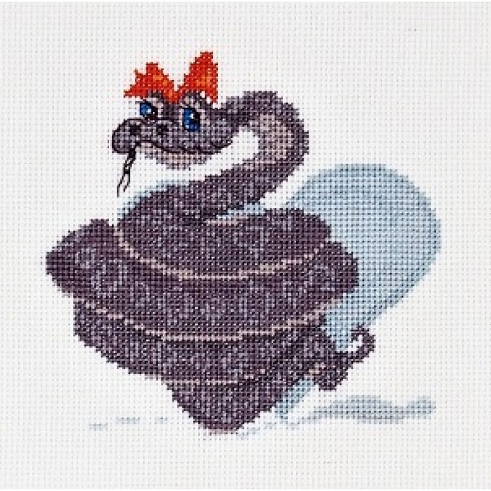 1057 Набор для вышивания Alisena 'Змеюшка' 11*11см