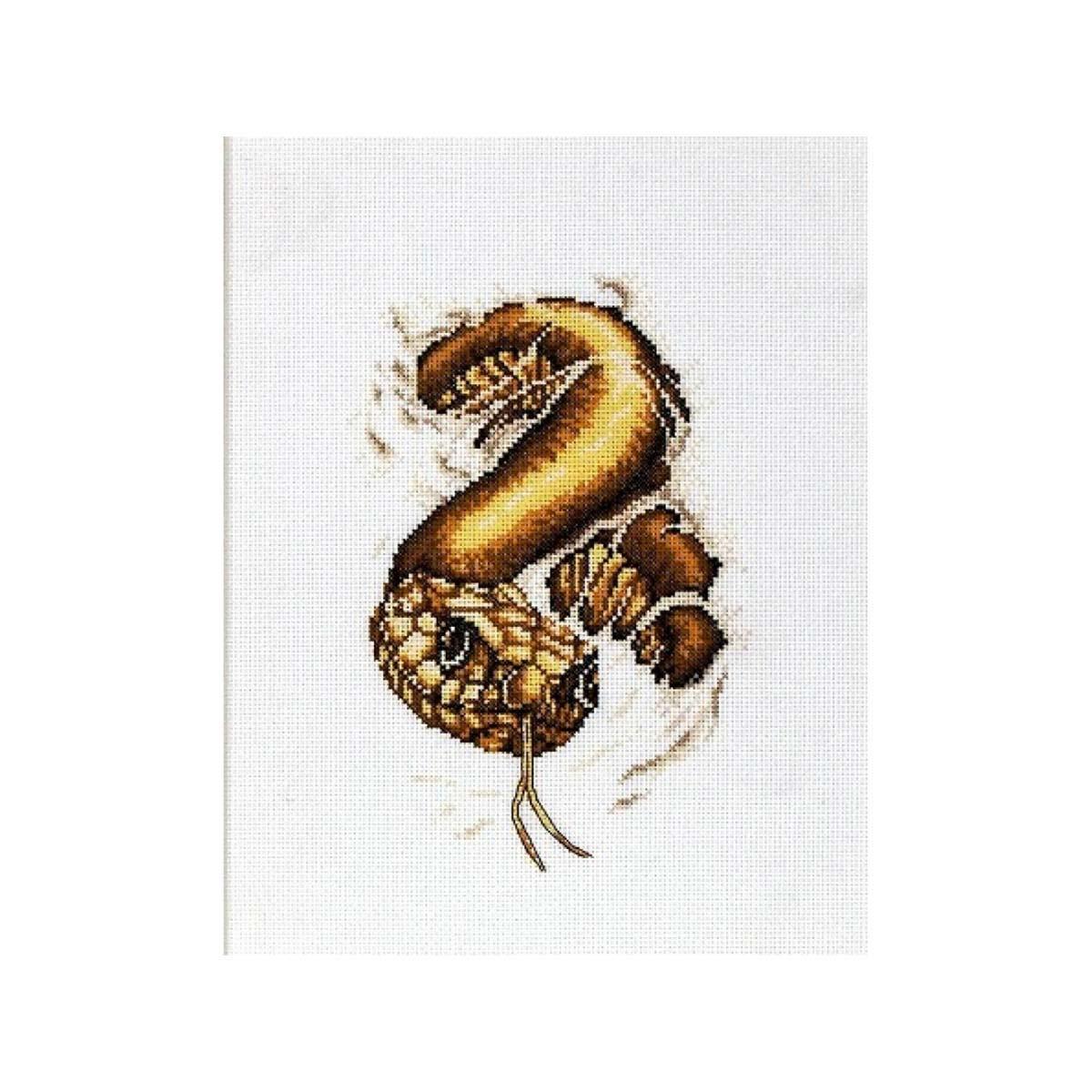 1077 Набор для вышивания Alisena 'Змея' 13*20см