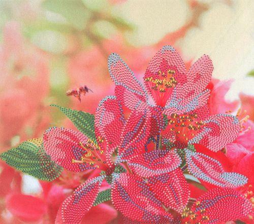 В1067 Канва с рисунком Alisena 'Весенний цвет', 22,5*19,5 см