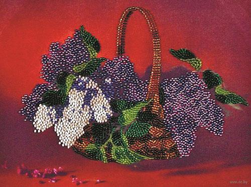 ВН1017 Набор для вышивания Alisena 'Корзина сирени', 24*18 см