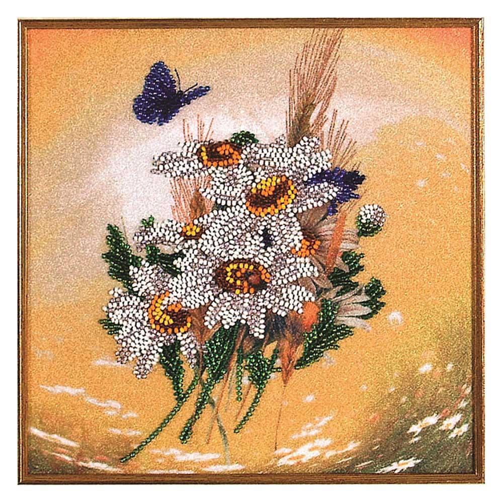 ВН1054 Набор для вышивания Alisena 'Ромашки', 20*20 см