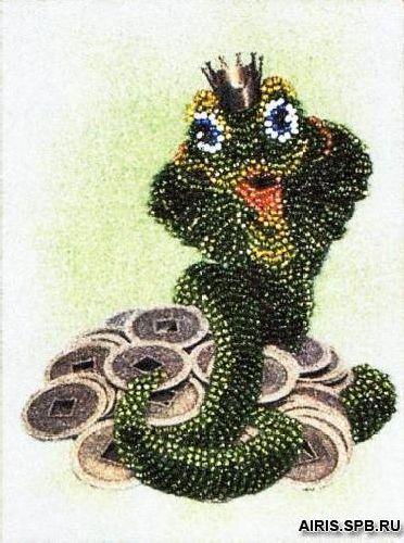 ВН1062 Набор для вышивания Alisena 'Денежная змейка' 12*16 см