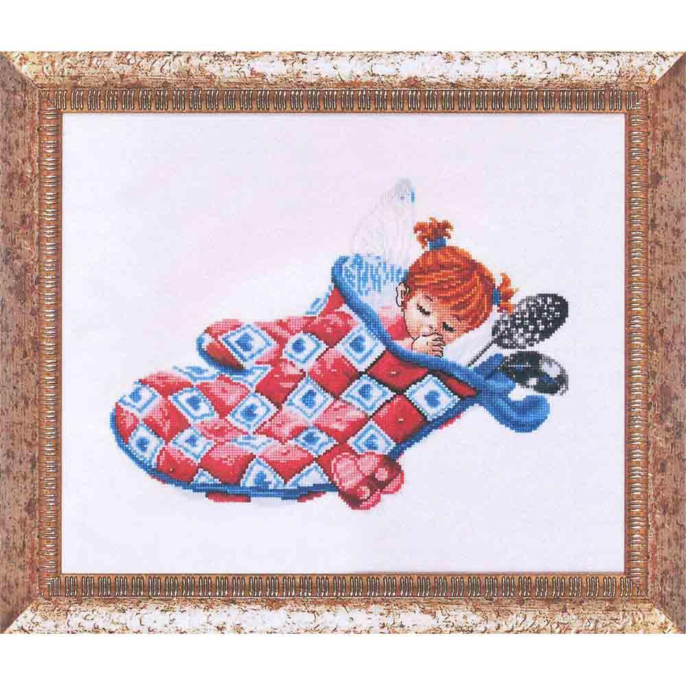 1115 Набор для вышивания Alisena 'Спящая феечка', 27*20 см
