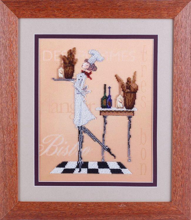 ВН1084 Набор для вышивания Alisena 'Официантка бистро' 25*32 см