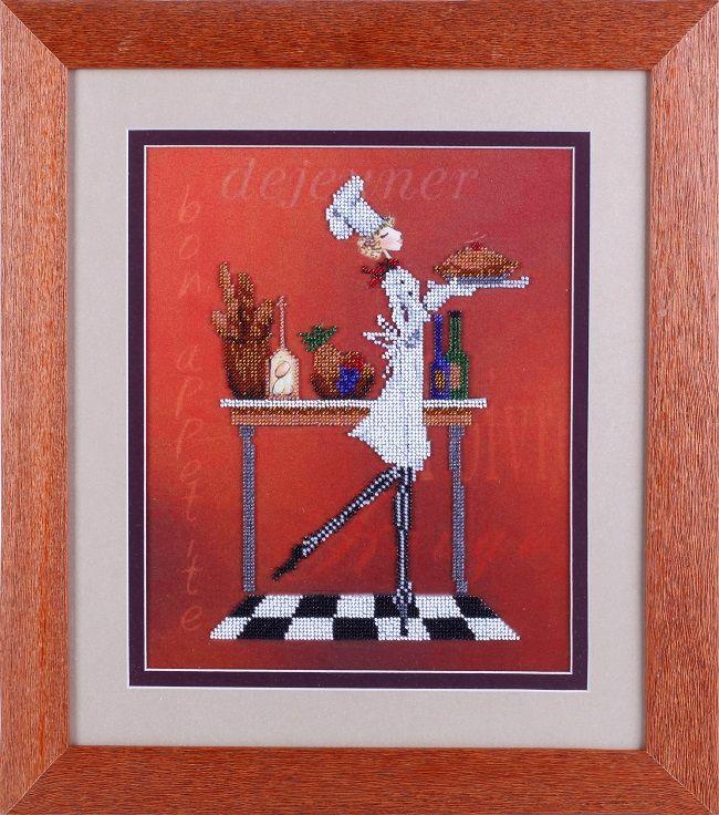ВН1085 Набор для вышивания Alisena 'Официантка с пирогом' 25*32 см