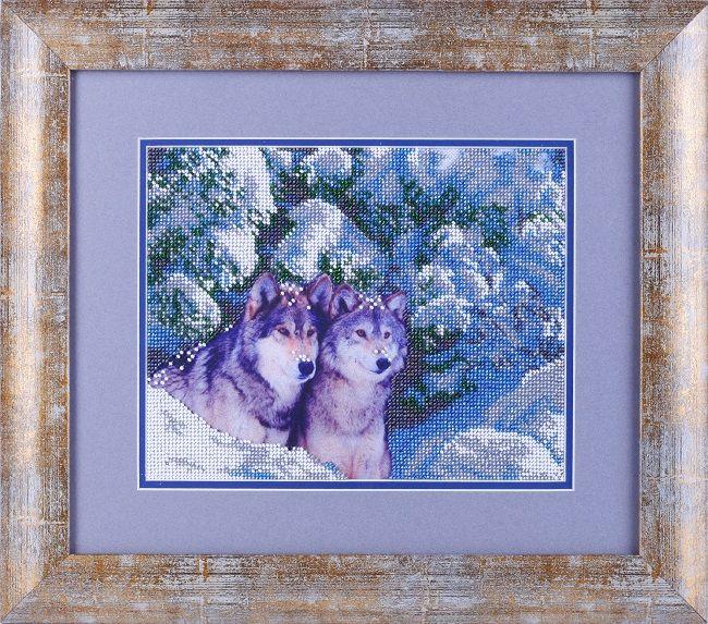 ВН1091 Набор для вышивания Alisena 'Волки в снегу', 25*20 см