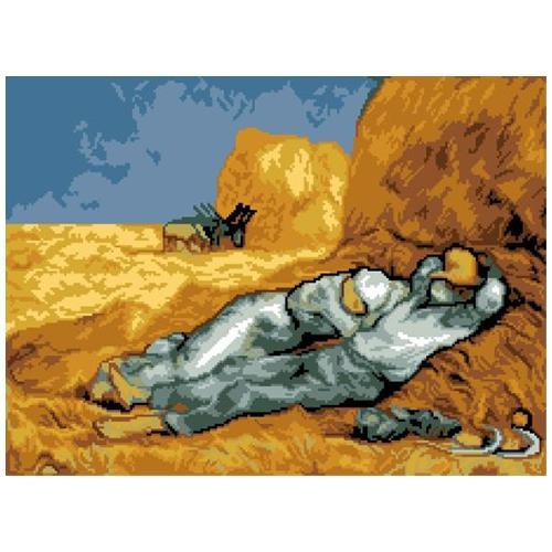 200119 Канва с рисунком ГК (Полуденный отдых, худ. Винсент ван Гог) 40х50