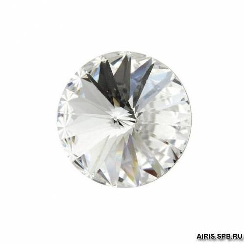 Камни1122/E 12мм круглые/риволи прозрачные 3 шт. Swarovski