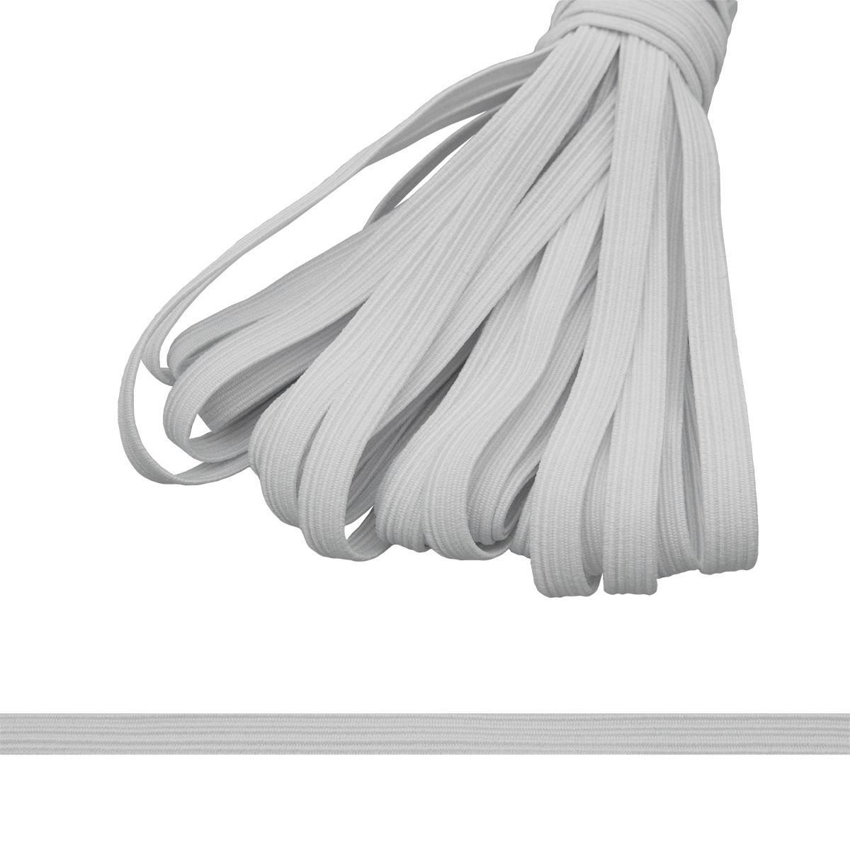 Тесьма эластичная, 8 мм (10*10м) (С907) белая