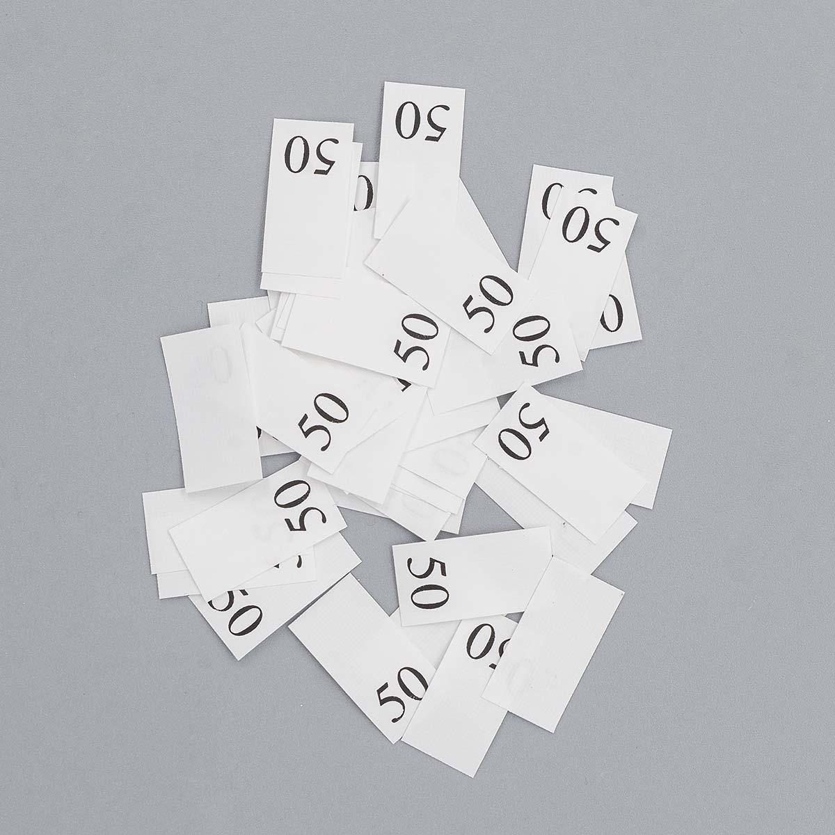 Этикетка-размерник, белый, 10*20 мм, упак./100 шт.