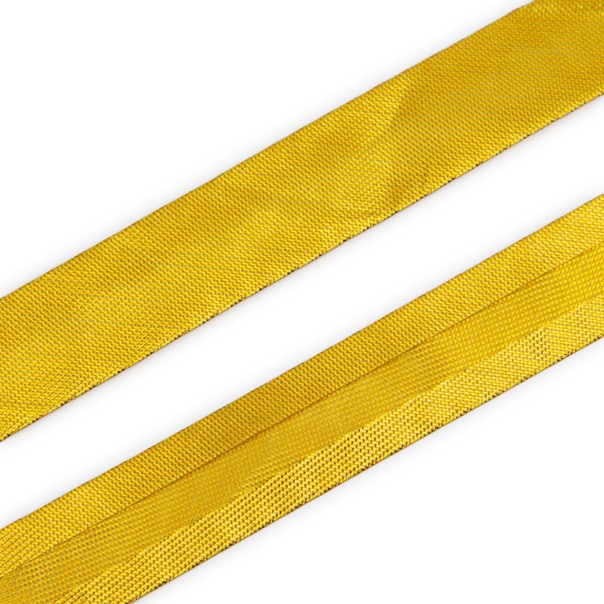 Косая бейка 1,5см металлизированная