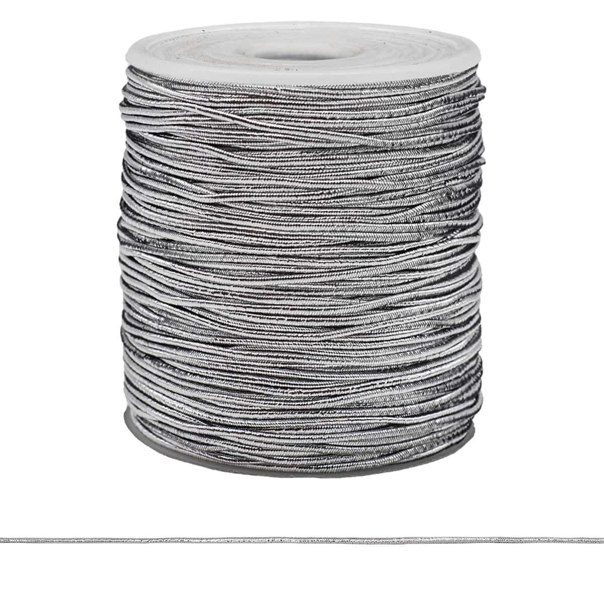 Шнур эластичный 0370-6100 1,0мм металлизированный