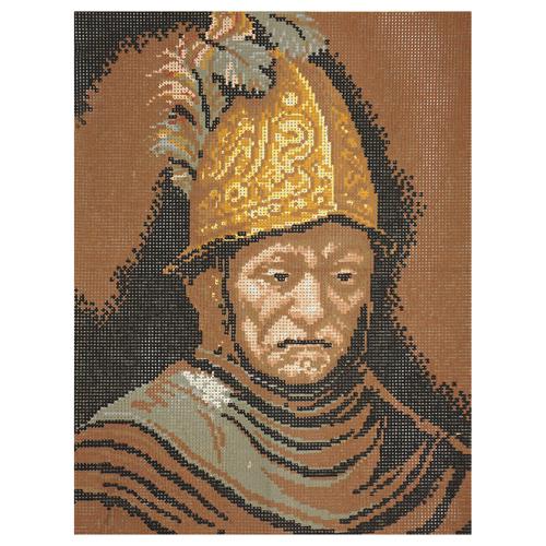 603-44 Канва с рисунком 'Воин' 30*40 см