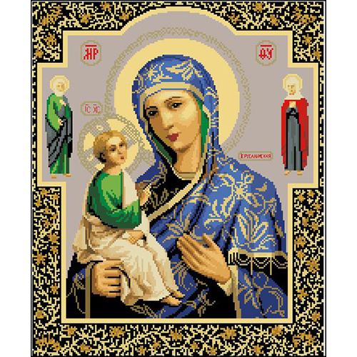 И-002 Канва с рисунком 'Гелиос' 'Богоматерь Иерусалимская', 38х46 см