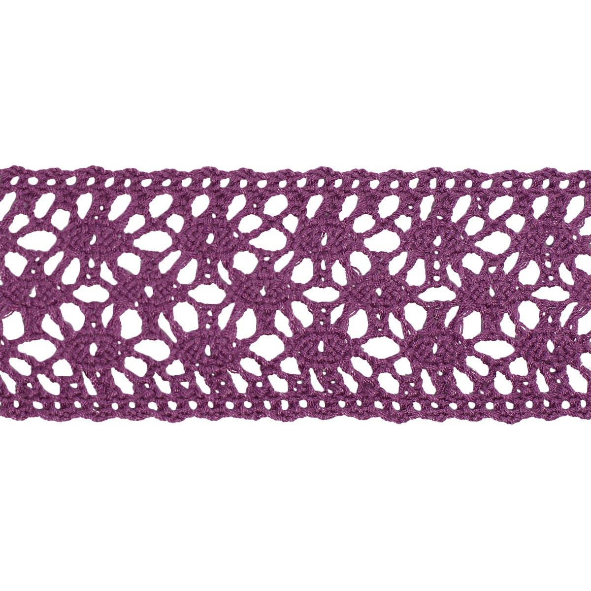 50-6422/013/ Тесьма вязаная ажур 38мм*25м двухстор.