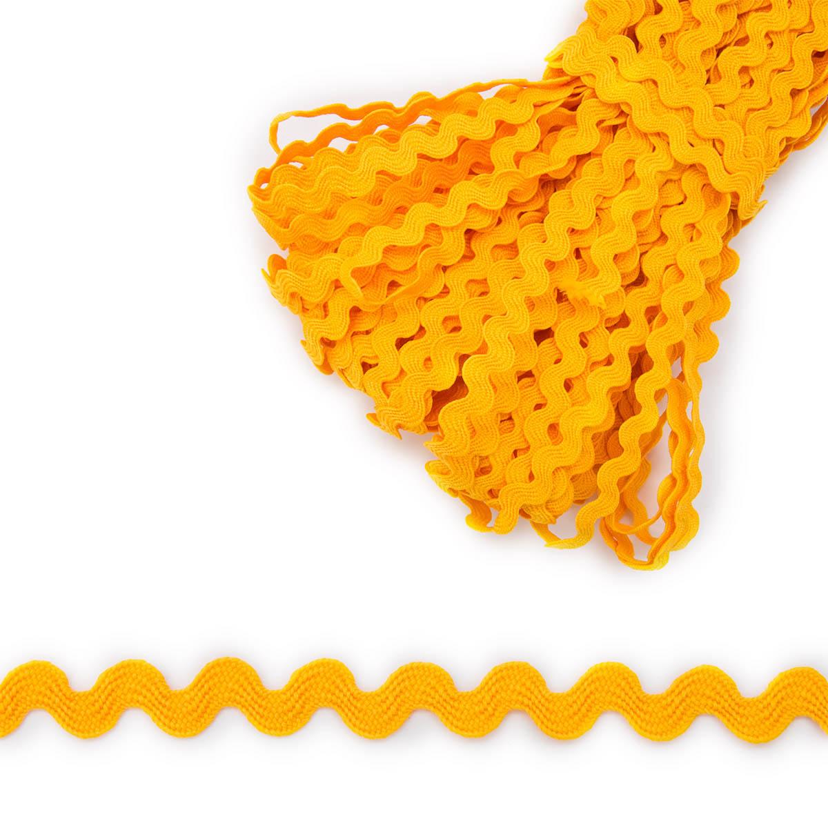 С868 (С442) Тесьма 'вьюнчик' 9мм*30м (желтый) фото