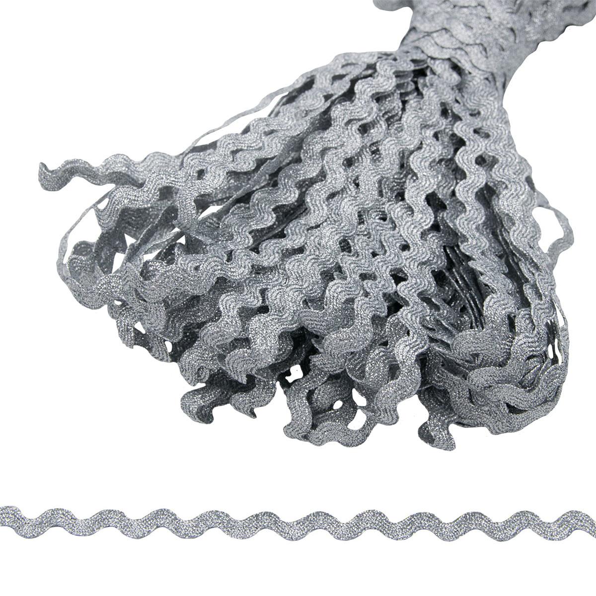 0381-0090 Тесьма-вьюнчик металл, 9 мм*32,9 м