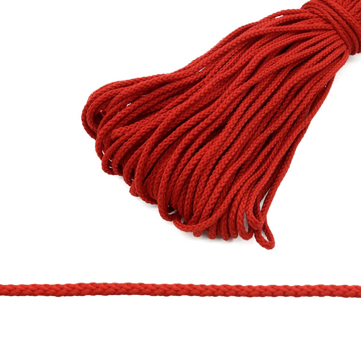 С1048 Шнур отд. плетеный 3мм*30м (красный) фото