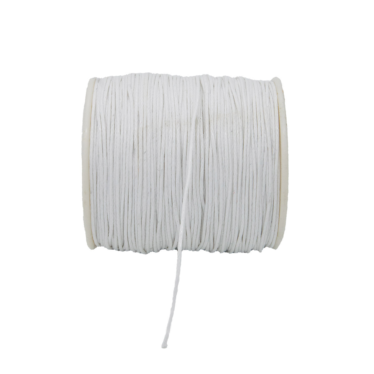 Шнур вощеный 1,0мм*100м цветной на катушке 0371-9002 (белый) фото