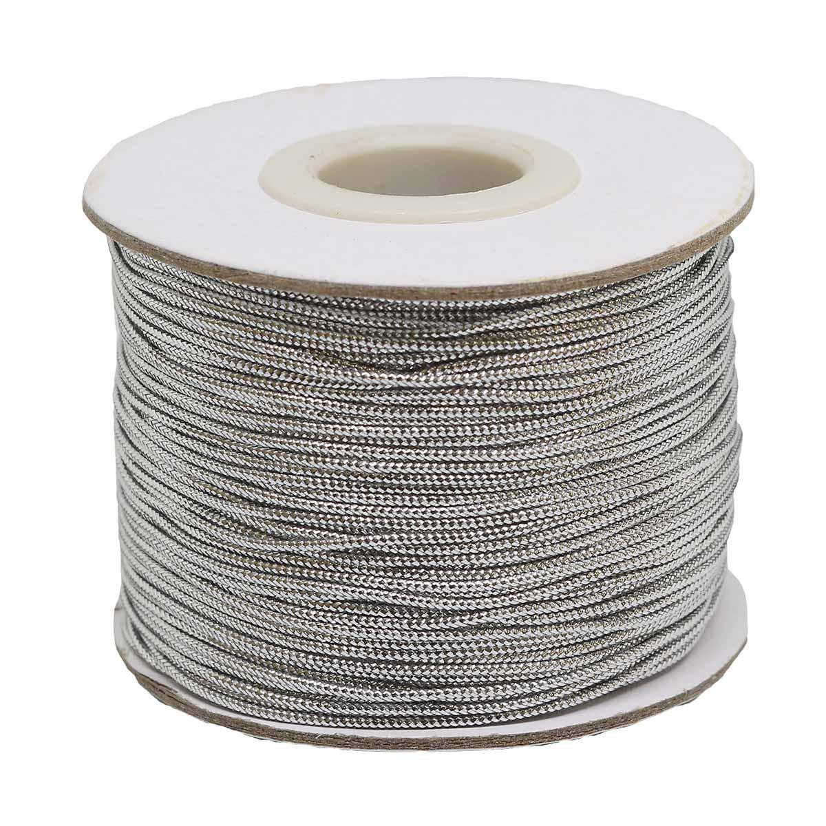 0371-1000 Шнур металлизированный (люрекс), 1 мм*100 м
