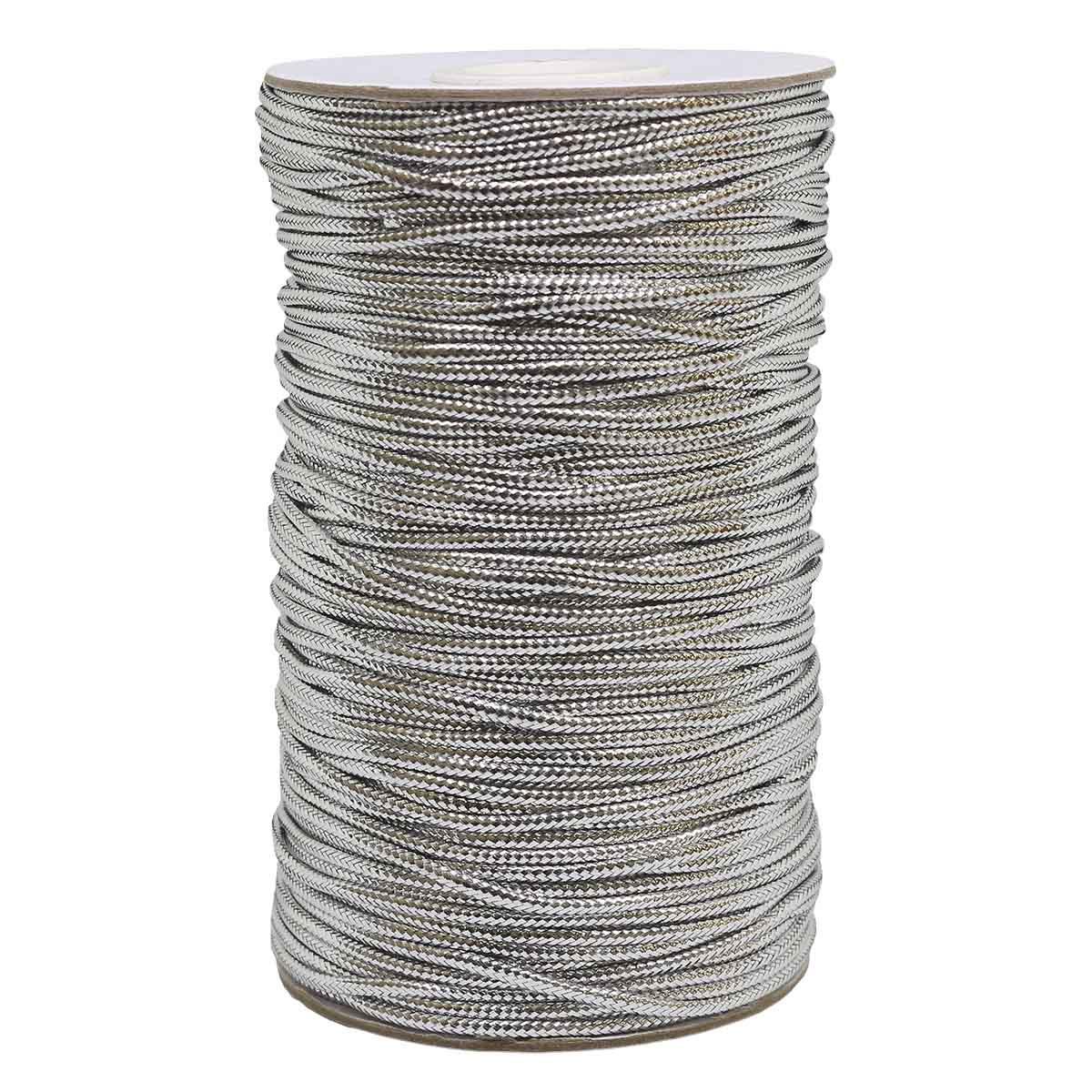 0371-1200 Шнур металлизированный (люрекс), 2 мм*100 м