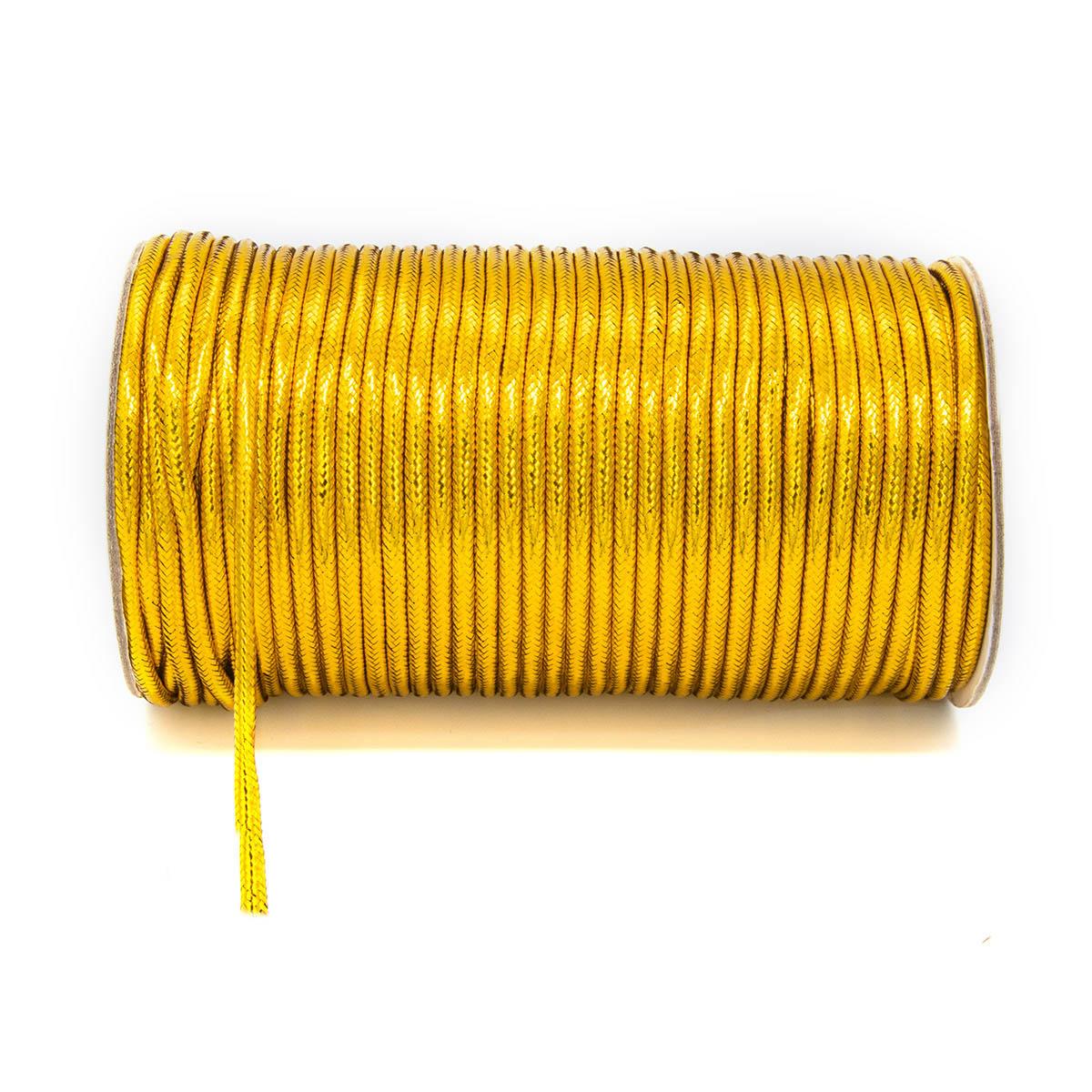 0371-1011 Шнур металлизированный (люрекс), 3 мм*50 м