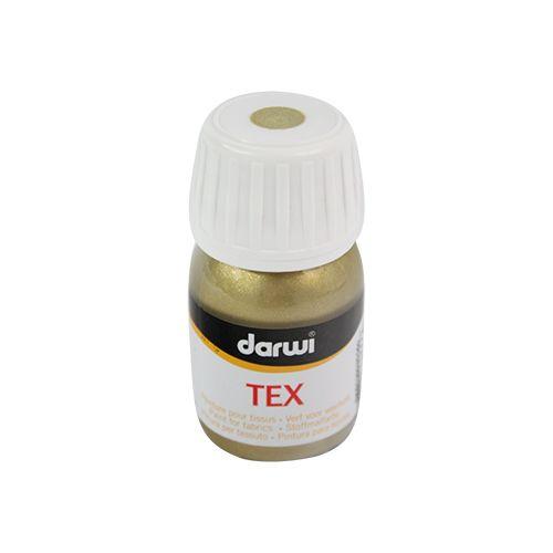 DA0100030 Акриловая краска по ткани Tex, металлизированная, 30 мл, Darwi