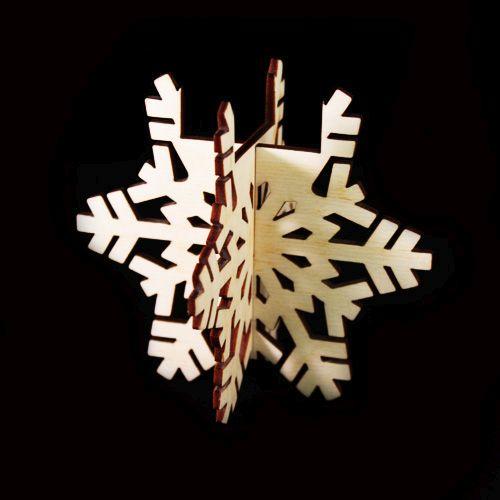 L-403 Деревянная заготовка подсвечник 'Снежинка', 9*10 см, 'Астра'