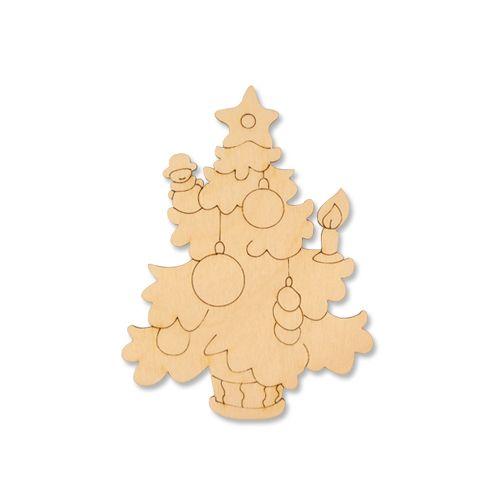 Деревянная заготовка Ёлка с игрушками 12*9 см (L-409) Астра