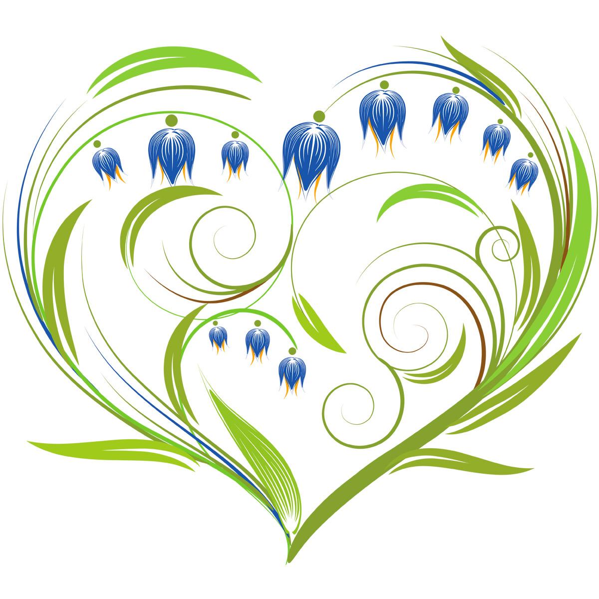 7027 Набор для вышивания лентами 'Матренин Посад' 'Колокольчики-сердце', 15*15 см