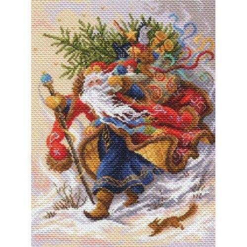1702 Канва с рисунком 'Матренин Посад' 'Дед Мороз', 37*49 см