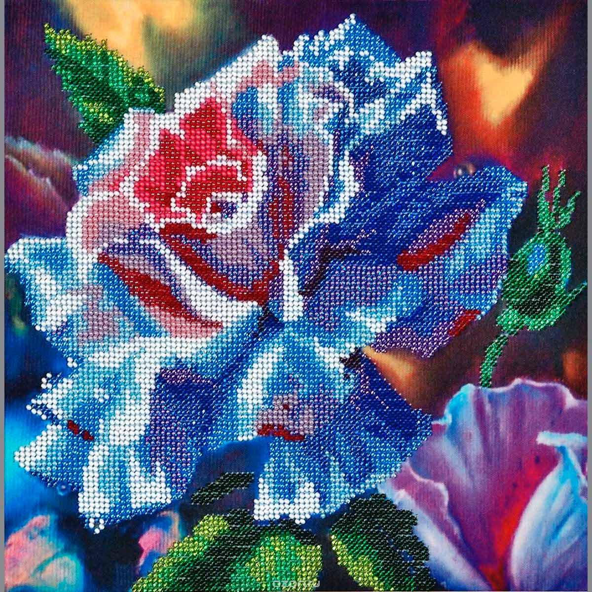 БН-3118 Набор для вышивания бисером Hobby&Pro 'Волшебная роза', 25*25 см