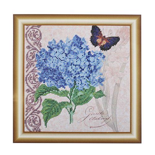 НР-3108 Канва с рисунком для вышивания бисером 'Гортензия' Hobby&Pro 25*25см