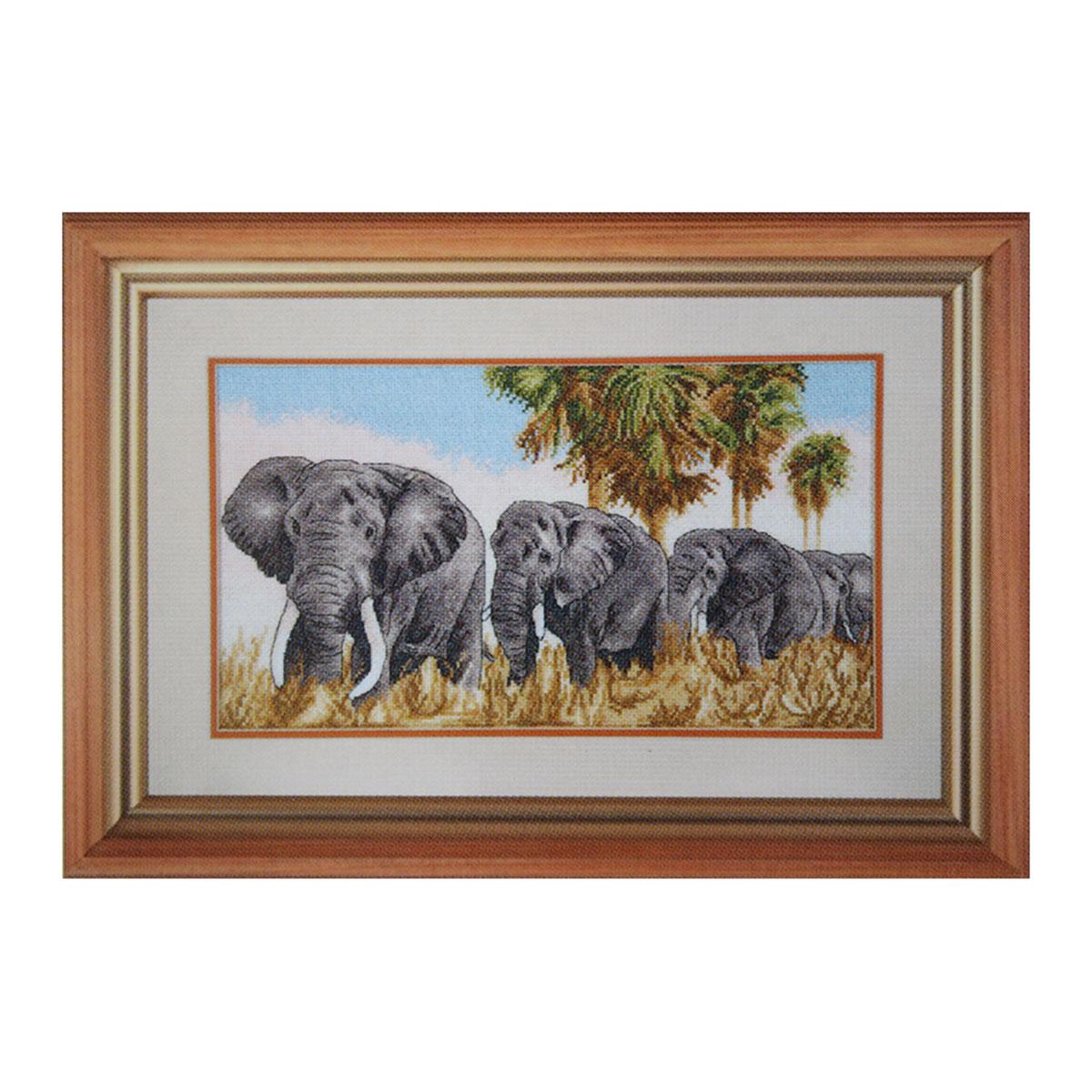 """Набор для вышивания 791 """"Прогулка под пальмами"""", 37х21 см, Hobby&Pro"""