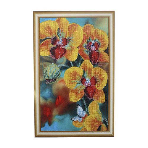 БН-3119 Набор для вышивания бисером Hobby&Pro 'Желтая орхидея', 24*40 см
