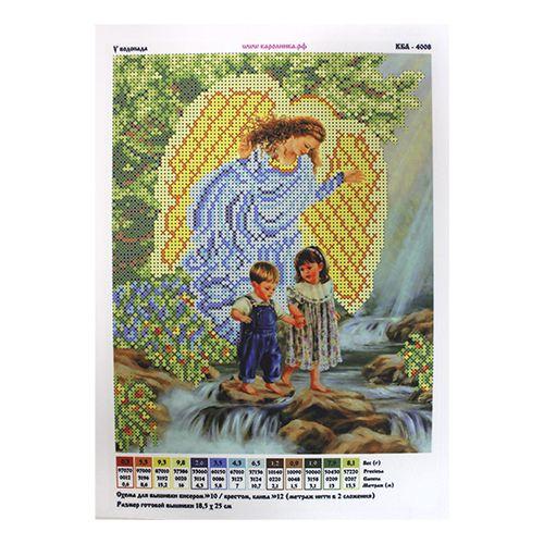 КБА-4008 Канва с рисунком для бисера 'У водопада', А4