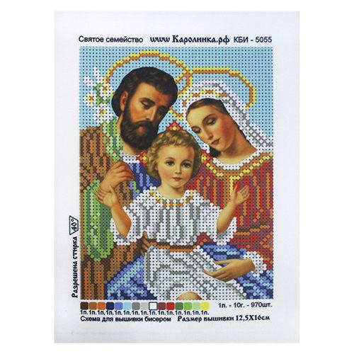 КБИ-5055 Канва с рисунком для бисера 'Святое семейство', А5