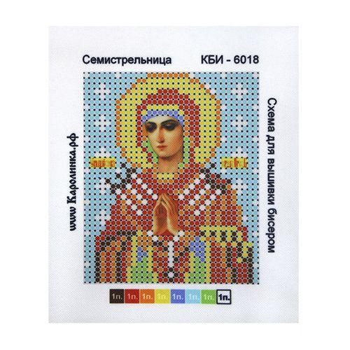 КБИ-6018 Канва с рисунком для бисера 'Семистрельница', А6