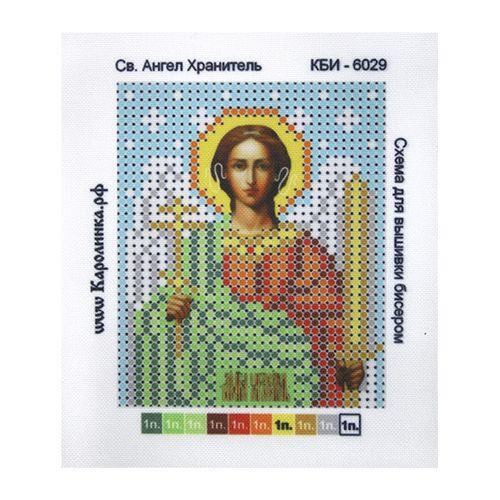 КБИ-6029 Канва с рисунком для бисера 'Ангел Хранитель', А6