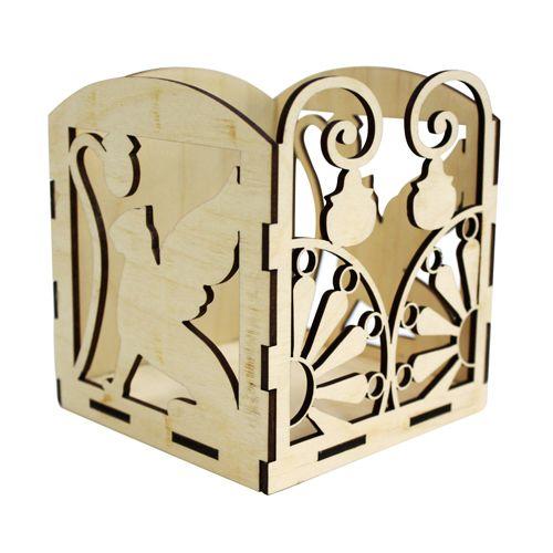 L-451 Деревянная заготовка Коробочка для бумажек 'Грифоны', 11*11*11 см, 'Астра'