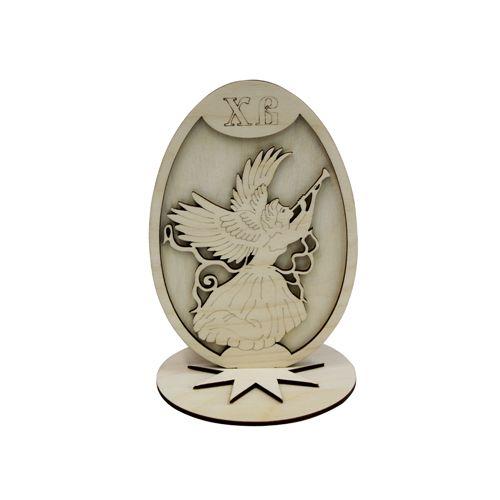 L-450 Деревянная заготовка Яйцо пасхальное 'Ангел'10,5*15 см Астра