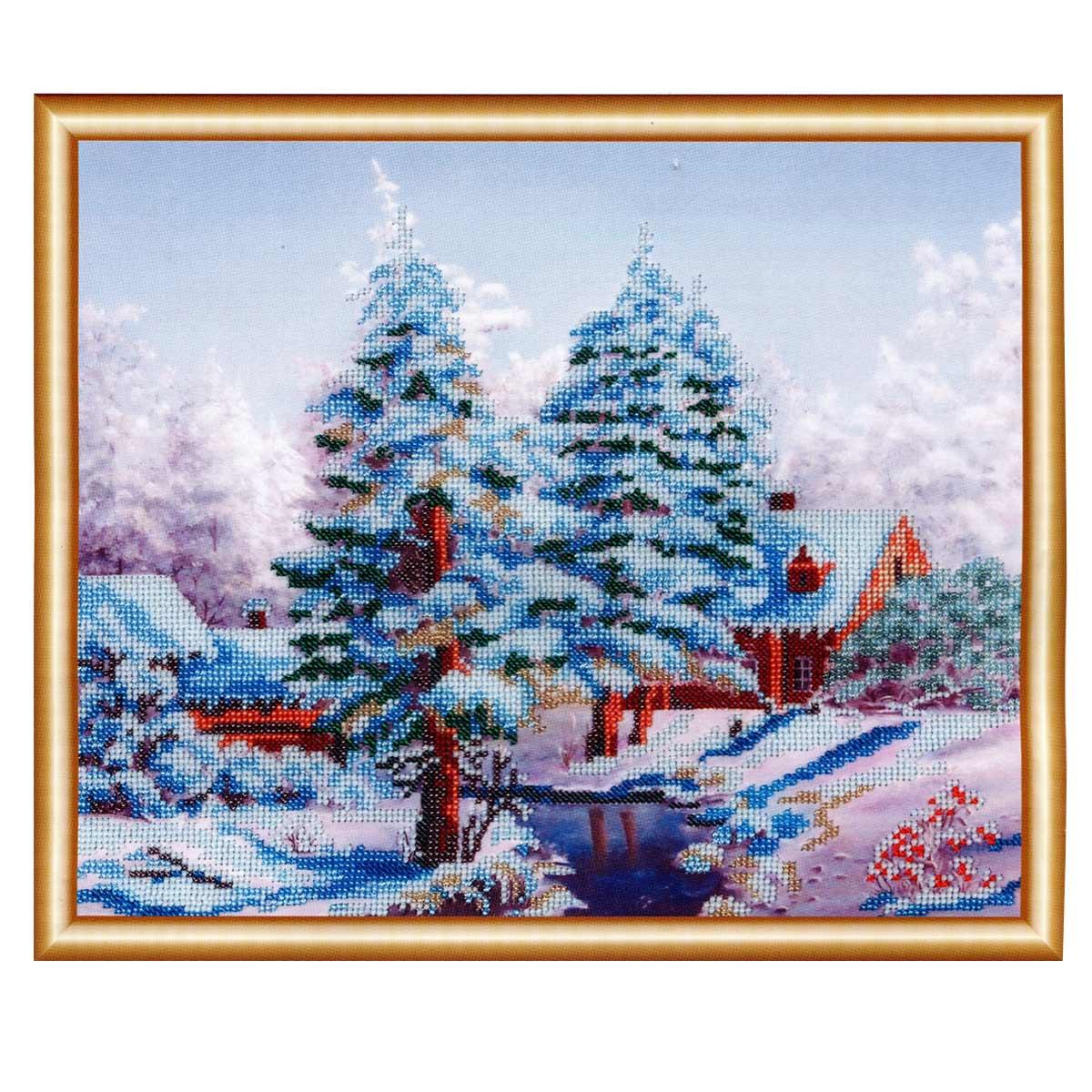 БН-3131 Набор для вышивания бисером Hobby&Pro 'Сударыня зима', 36*30 см