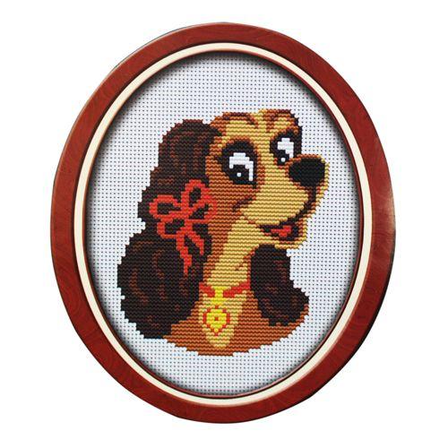 003 Набор для вышивания Lutars 'Собачка', 12х14 см