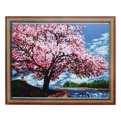 040 Набор для вышивания Lutars 'Цветущая яблоня', 27х20 см