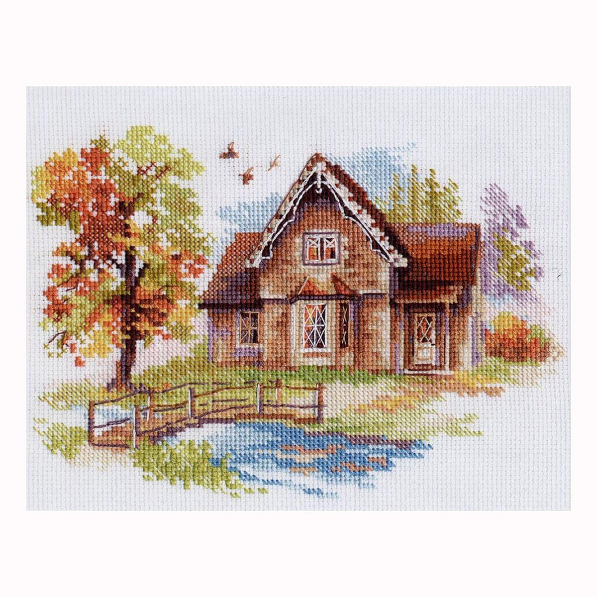 3-21 Набор для вышивания АЛИСА 'Сентябрьский домик' 18*14см