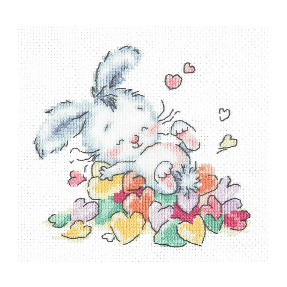 19-07 Набор для вышивания 'Чудесная игла' 'Утопаю в любви', 13*12 см