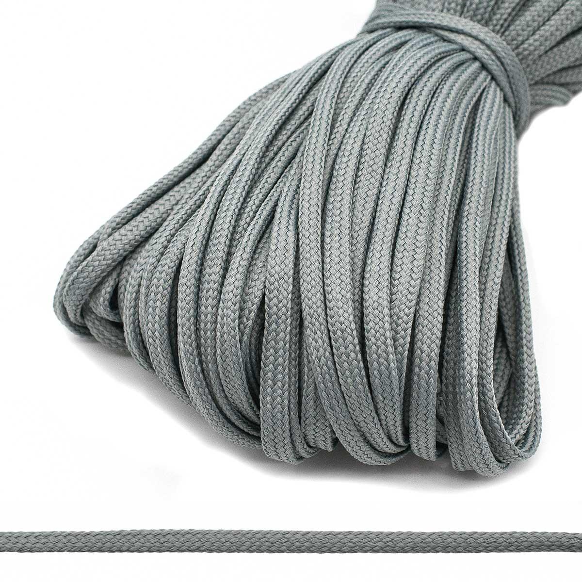 С34 Шнур обувной 8мм*100м (Мн.) (012 серый)