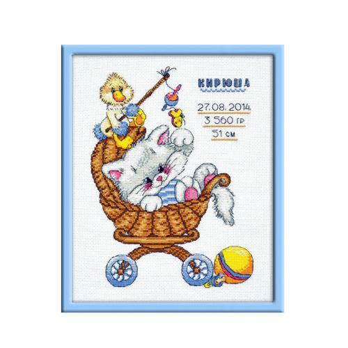 708 Набор для вышивания 'Овен' 'Метрика 'Котенок', 18х25 см