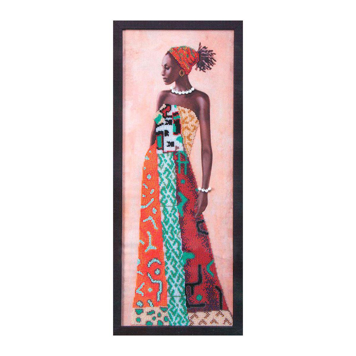 Б-704 Набор для вышивания бисером 'Чарівна Мить' 'Африканская красавица', 20*54 см
